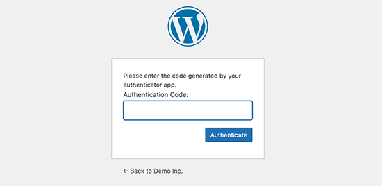 Add two factor authebntication code to continue