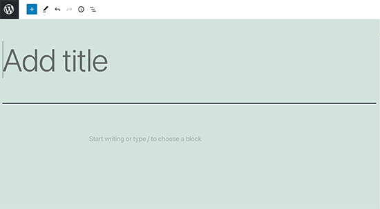 Adding a post title in WordPress block editor