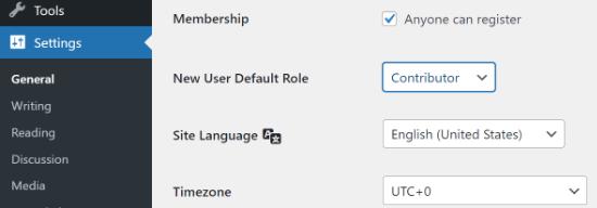 Allow user registration on WordPress site