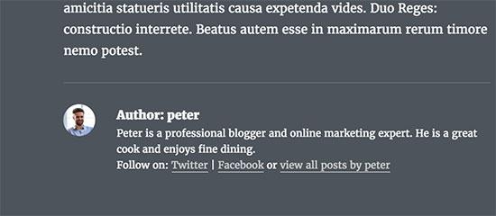 Author profile links