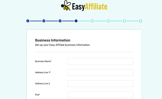 Add your business information
