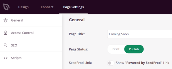 Change the Page Settings