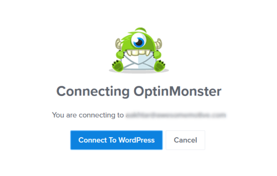 Click the Connect to WordPress button