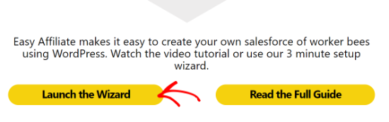 Click the Launch the Wizard button
