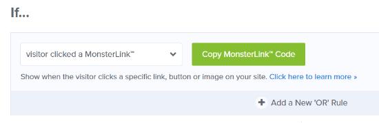 Copy your MonsterLink code