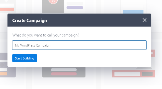Enter a name for your campaign