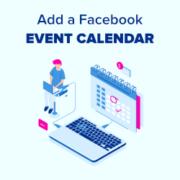 How to Add a Facebook Event Calendar in WordPress