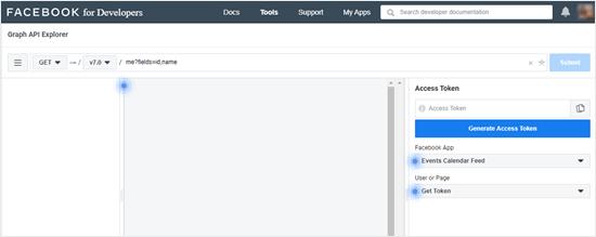 Generating your access token using the Facebook Graph API explorer