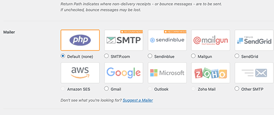 Mailers in WP Mail SMTP