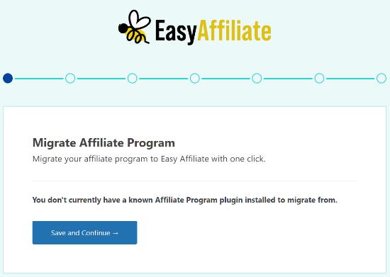 Migrate affiliate program settings
