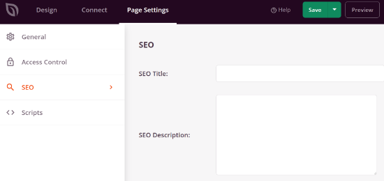 Optimize your page for SEO