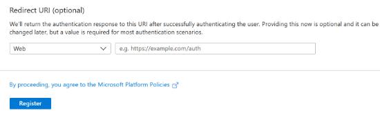 Redirect URI Settings