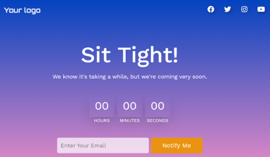 SeedProd Preview of Countdown Timer
