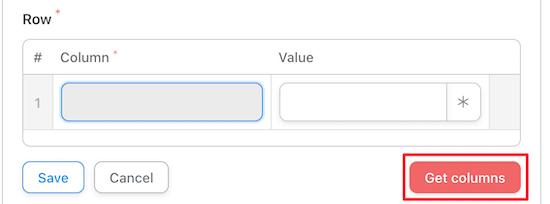 Select get columns