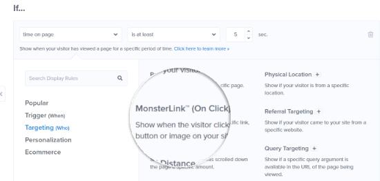Select MonsterLink targeting