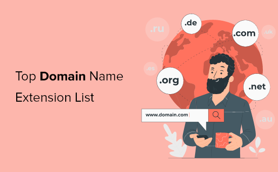 Top domain name extensions list (tlds, gtlds, cctlds)