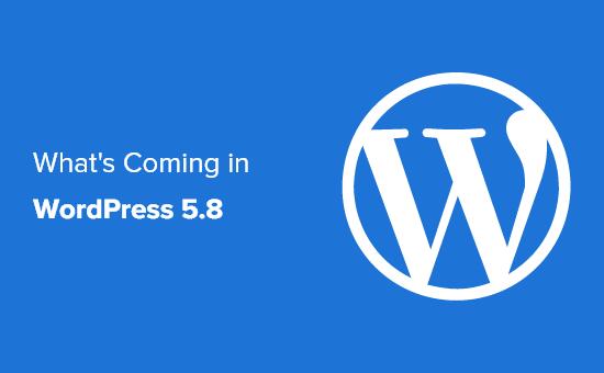 A sneak peak into upcoming WordPress 5.8 release