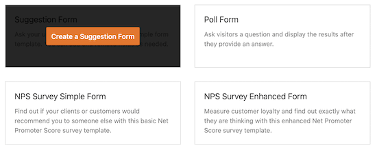 WPForms survey templates