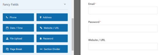 Add a website field to your registration form