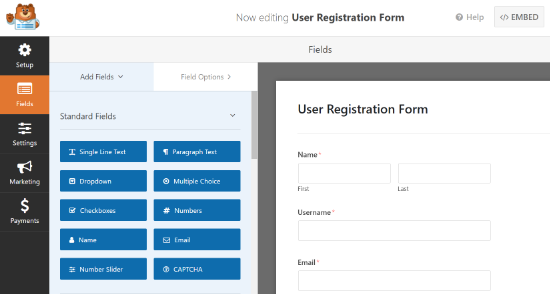 Add more form fields in your user registration form