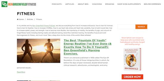 Ben Greenfield Fitness Blog