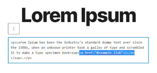 Enter HTML code in WordPress editor