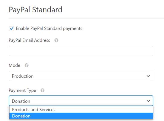 Enter your PayPal details