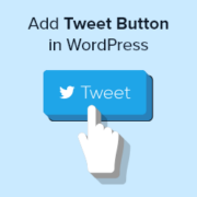 How to Add Twitter Share and Retweet Button in WordPress