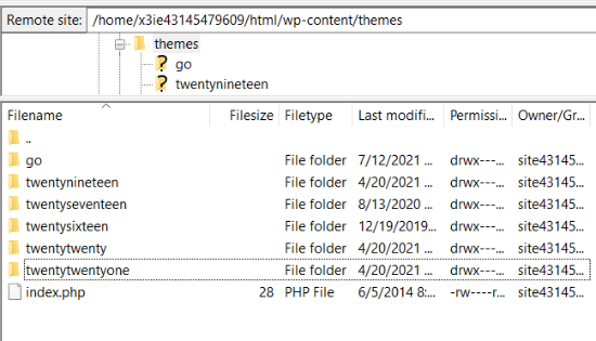 Navigate to your theme files in FTP client