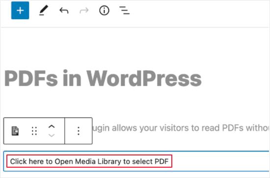 Click to Select a PDF File