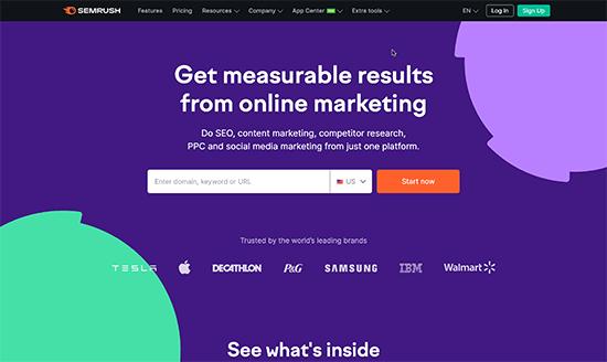 Semrush website