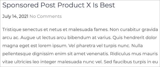 Preview of Sponsored Post Prefix