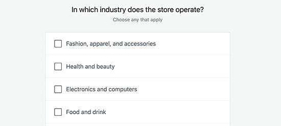 Choose store industry