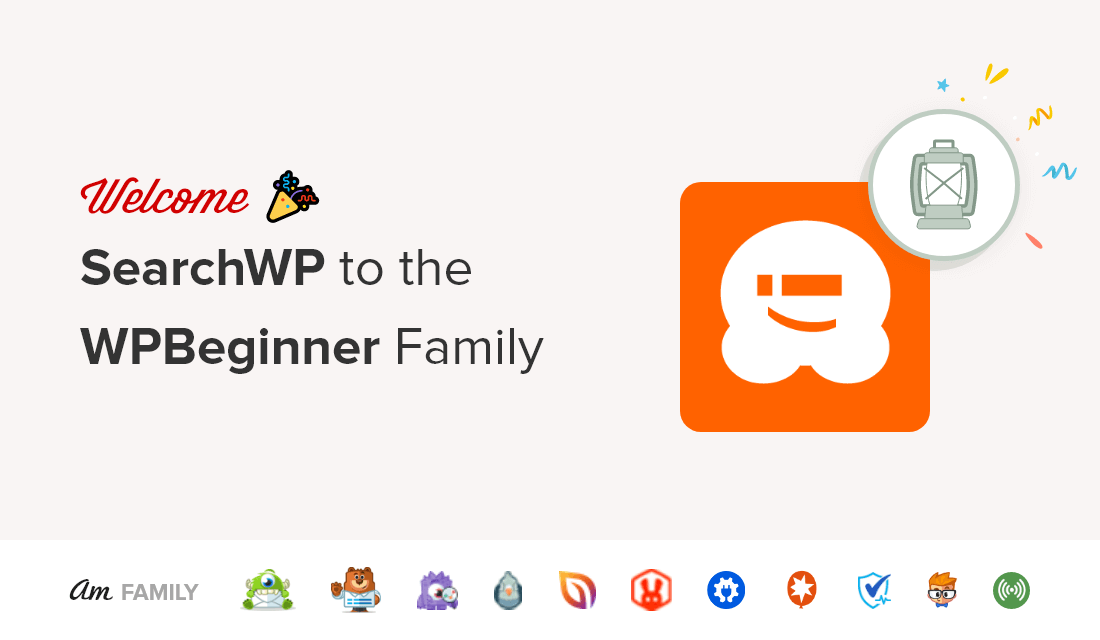 Welcome SearchWP to WPBeginner Family of Products
