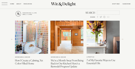 Wit and Delight Blog