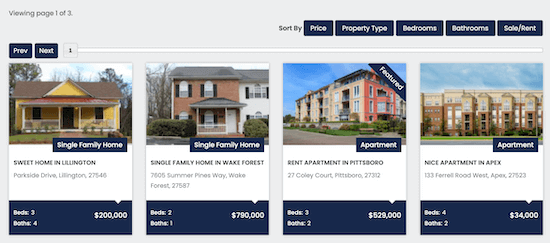 WP-Property listings