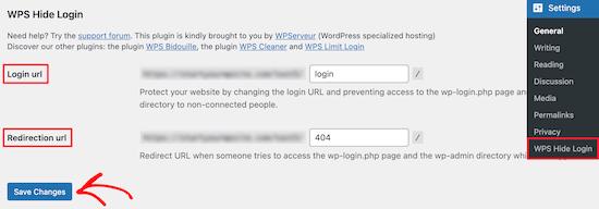 WPS پنهان کردن ورود اضافه کردن تغییر مسیر