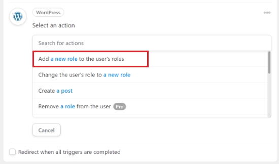 Add a new role to the user roles