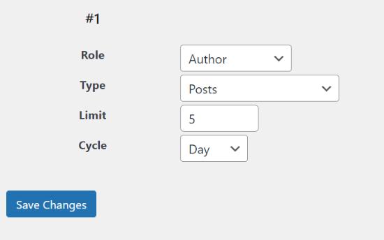 Change post limit settings