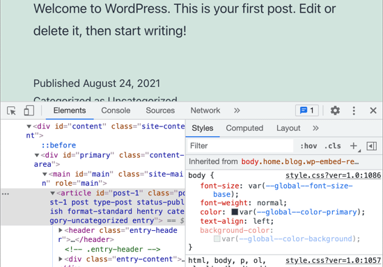You Will See the HTML and CSS for the Page
