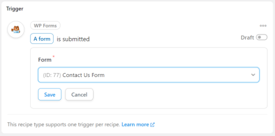 Choose your contact form