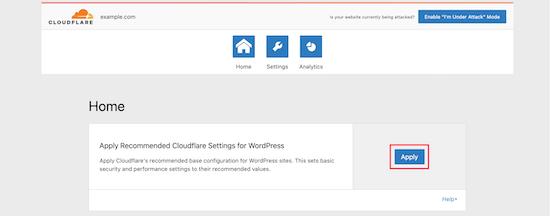 Apply to optimize WordPress