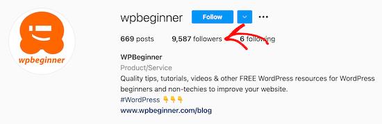 Click Instagram followers