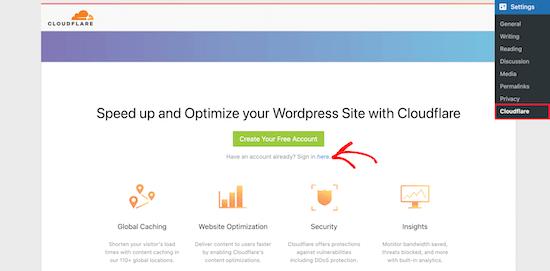 Cloudflare plugin settings