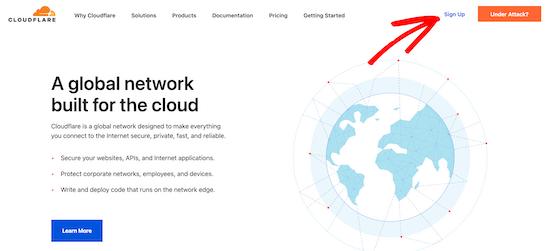 Visit Cloudflare website