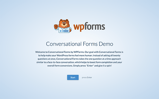 Conversational Form Demo