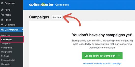 Create new campaign