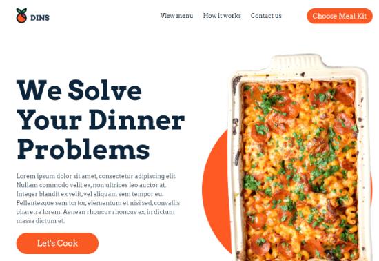 Custom homepage example