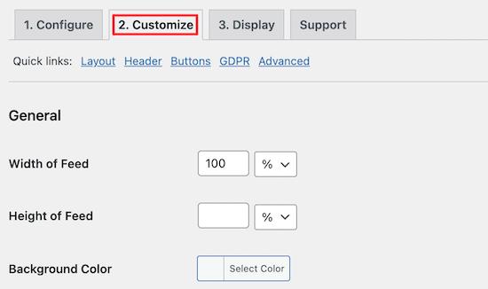 Customize YouTube feed settings