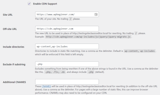 Enable CDN support